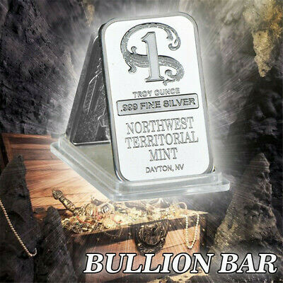 Decoration Bars 1 oz Northwest Territorial Mint Silver Bar .999 Collection Art~