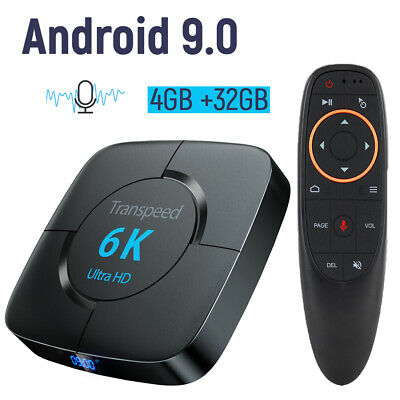Android 9.0 Smart TV Box  Google Assistant 3D 32G 4K Quad Core WIFI BT4.0 Smart