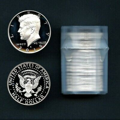 2019 S First .999 Fine Silver Kennedy Half Dollar Proof Roll (20 Pieces)