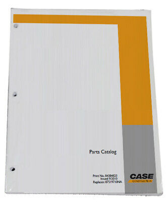 CASE CX75SR Tier 3 Excavator Parts Catalog Manual - Part# 87659781