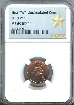 2019-W LINCOLN CENT  NGC  MS69 PL -LOW POP  From MINT SET - ONLY 9 GRADED HIGHER