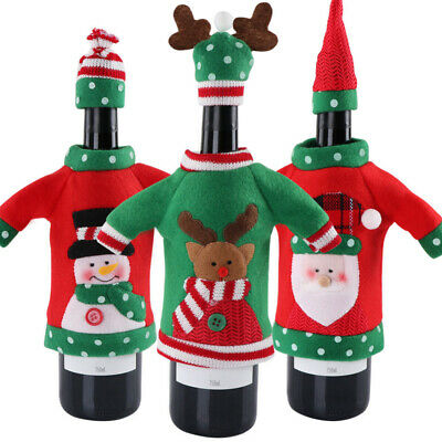 Party Gifts Christmas Red Wine Bags Office Products Bottle Cover Unisex Sweater