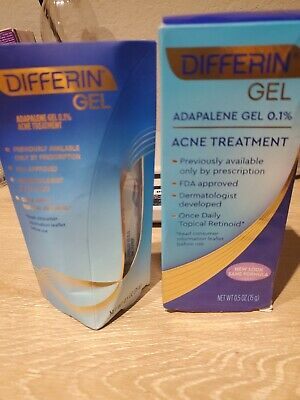 2x Differin Adapalene Gel 0.1% Acne Treatment, 0.5oz exp 08/2021 & after