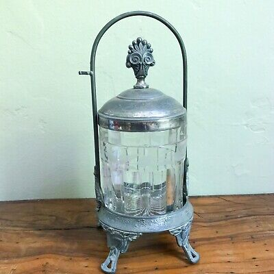 Antique Victorian Pickle Castor Silverplate Aesthetic Movement