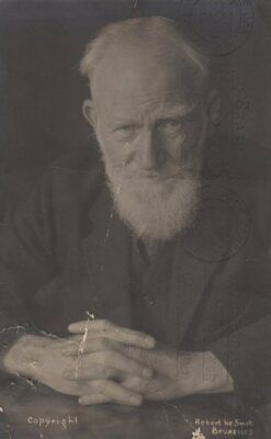 *Great Playwright George Bernard Shaw Rare Autographed Photo*