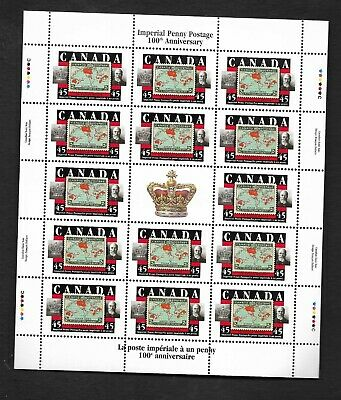 pk45011:Stamps-Canada #1722 Imperial Penny Postage 14 x 45 cent Sheet-MNH