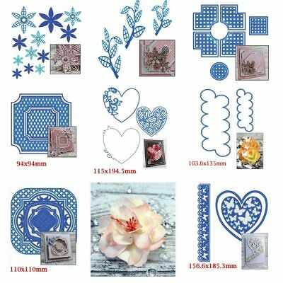 Flower Lace Square Frame Metal Cutting Dies Stencil Scrapbook Album Embossing