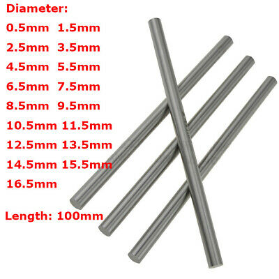 0.5mm-16.5mm HSS Steel Round Rod Bar Shaft Axis Metal 100mm Long Metalworking