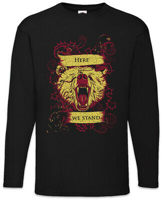 Here We Stand Long Sleeve T-Shirt Game of House Mormont Sign Symbol Logo Thrones