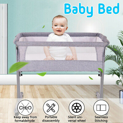 COSY TIME SLEEPER BASSINET COT CRIB BABY BED Mattress + Net Child Care CoSleeper
