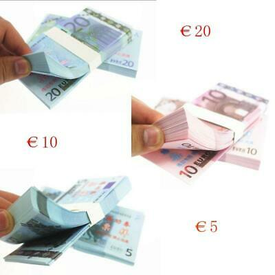 New 100 Pcs Euro Banknotes Commemorative Fake Money for Banker Practice Ticket