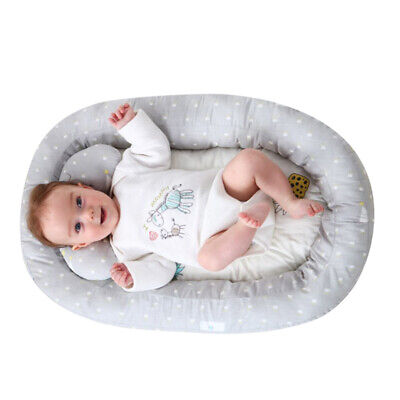 Portable Newborn Baby Soft Bassinet Bed Lounger Crib Sleep Nest With Pillow NEW