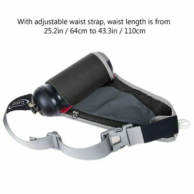 Zip Pack Waist Bag Water Bottle Holder Waterproof Sport Runner Camping Hiking