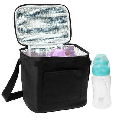 Portable Cooler Insulated Nylon Picnic Lunch Bag Box for Unisex Adults Kids LA