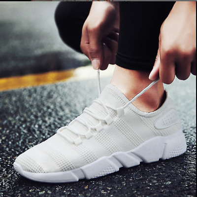 Men's Sneakers Athletic Flyknit Outdoor Running Air Cushion Jogging Shoes