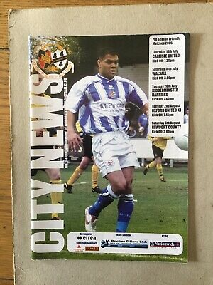 WORCESTER CITY v CARLISLE, WALSALL, KIDDERMINSTER, OXFORD UTD, NEWPORT 2005/6.
