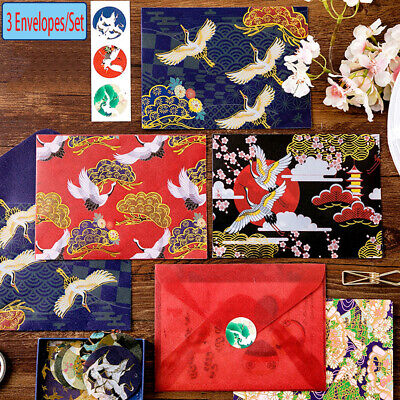 Gift New Cute Acid Paper Floral Printed Bronzing Envelopes Chinese Style