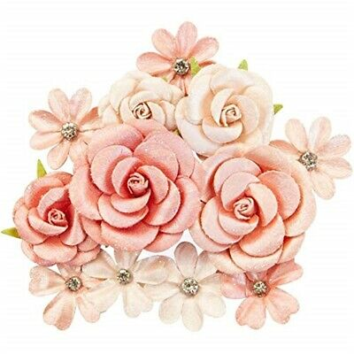 Prima Marketing Mulberry Paper Flowers-sweet Apricot/apricot Honey