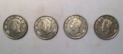 "Ecuador 4 x 1 Sucre Coins (1964) In ""EF"" Condition"