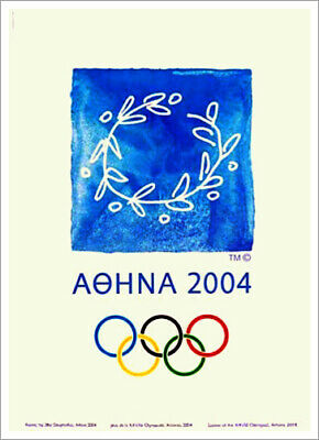 ATHENS GREECE 2004 Summer Olympic Games Official Olympic Museum POSTER Print