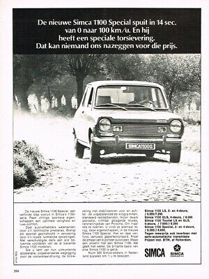 1971 Simca 1100 Special (NL, 1pg.) Advertisement