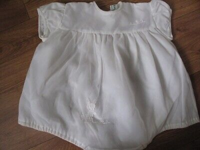happitots vintage baby romper outfit 6 to 12months 1960s nylon as white rabbit m