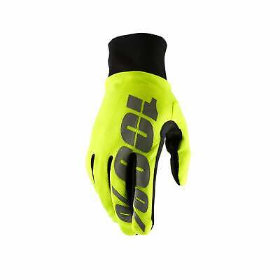 100 Percent Hydromatic Waterproof Gloves Mx Glove - Neon Yellow All Sizes