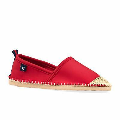 Joules Ocean Flipadrille Womens Footwear Espadrilles - Chinese Red All Sizes