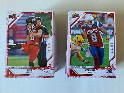2019 UPPER DECK CFL Red PARALLEL /150 PICK FROM LIST