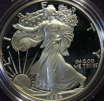 1986 One-Ounce Proof American Silver Eagle