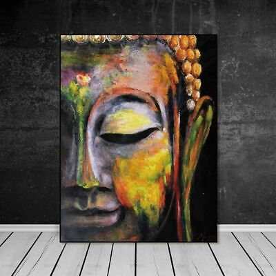 Buddha Face On Canvas Painting Wall Art Pictures Prints Home Decor