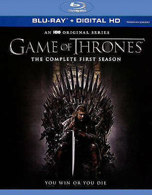 Game of Thrones The Complete First Season Blu Ray DVD 5 Disc set.