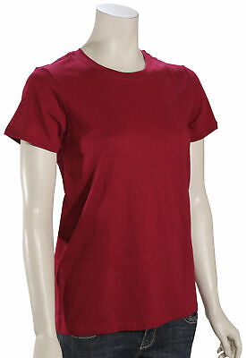 Hurley Solid Perfect Crew Women's T-Shirt - Noble Red - New