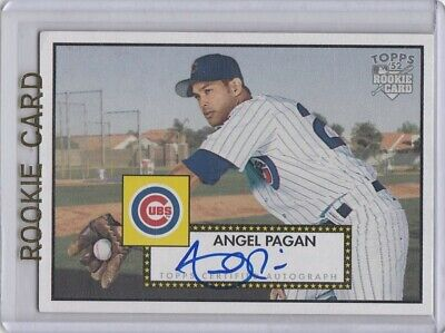 2006 Topps 52 Angel Pagan Chicago Cubs Rookie On Card Autograph Auto Insert