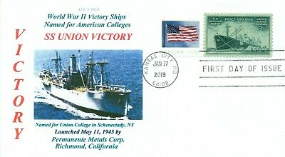 UNION VICTORY Ship named Union College in Schenectady, New York First Day PM