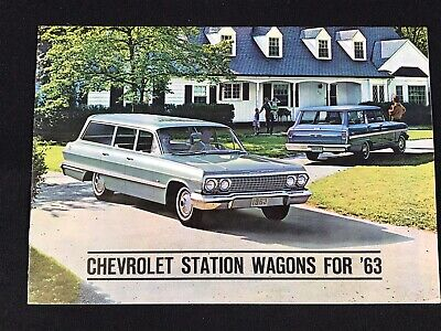Vtg 1963 Chevrolet Station Wagons Car Dealer Sales Brochure Impala Chevy II ++