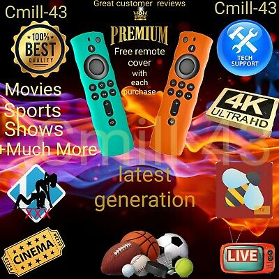 JAILBROKEN Fire Stick 4K🔥 FULLY LOADED🔥Plus Free Insignia remote cover