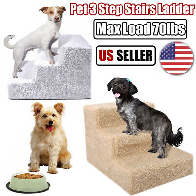 Soft Portable Pet Stairs Cat Dog Climb Steps Ladder Ramp Animal Bed Couch Sofa