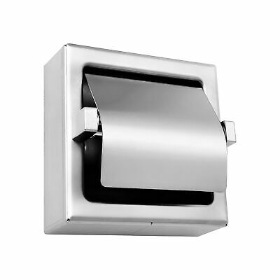 Toilet Paper Holder Stainless Steel Satin Finish Surface Mount