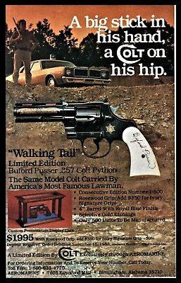 1983 COLT PYTHON Buford Pusser Limited Edition Walking Tall Revolver PRINT AD