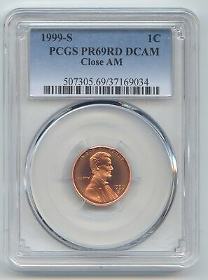 1999-S Proof Lincoln Memorial Cent, Scarce Close AM Variety, PCGS PR-69 RD DCAM