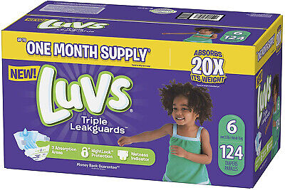 Luvs Ultra Leakguards Disposable Diapers, Size 6, 124Count,