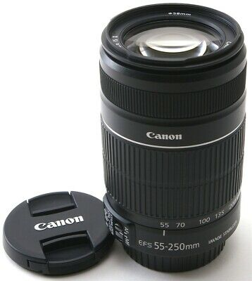 Canon EF-S 55-250mm f/4.0-5.6 IS II Lens in Mint Condition
