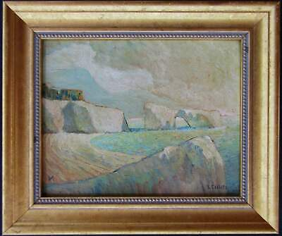 LISTED Imero Gobbato OLD Neo-Impressionist Coast Oil Painting #2 NO RESERVE