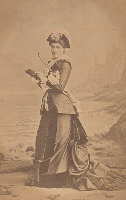 *Actress & Royal Mistress Lillie Langtry 1882 Theatre Costume Cabinet Photo*