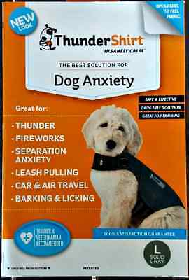 THUNDERSHIRT FOR DOG ANXIETY BEHAVIOR TRAINING GRAY LARGE 41-64 lbs 4TH OF JULY!