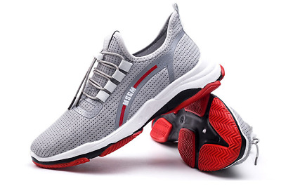Men  fashion Sneakers Athletic Flyknit Outdoor Running Air Cushion Jogging Shoes