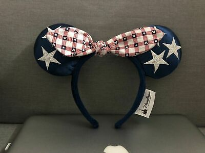 Disney Parks All American Girl Minnie Mouse Ears Bow Headband Party New