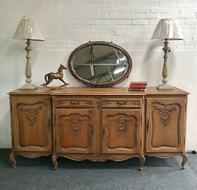 Wonderful French Oak Louis XV Style Carved 4 Door Sideboard -Delivery Available