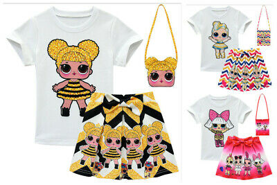 Girl Outfits A-Dress Costume Surprise Doll T Shirts&Pleated Skirt New Cute